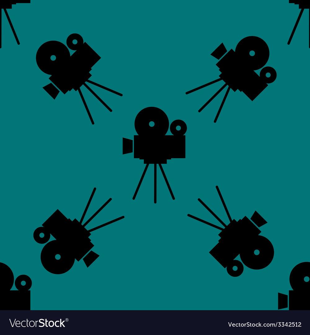 Videocamera web icon flat design seamless gray vector   Price: 1 Credit (USD $1)