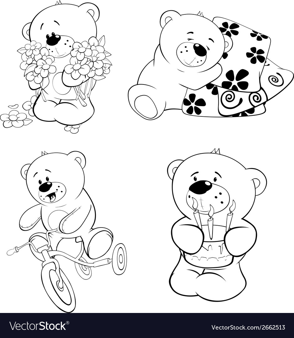A set of bears vector | Price: 1 Credit (USD $1)