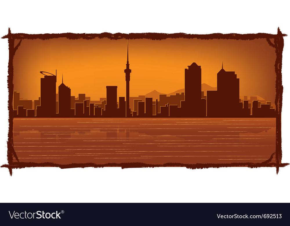 Auckland skyline vector | Price: 1 Credit (USD $1)