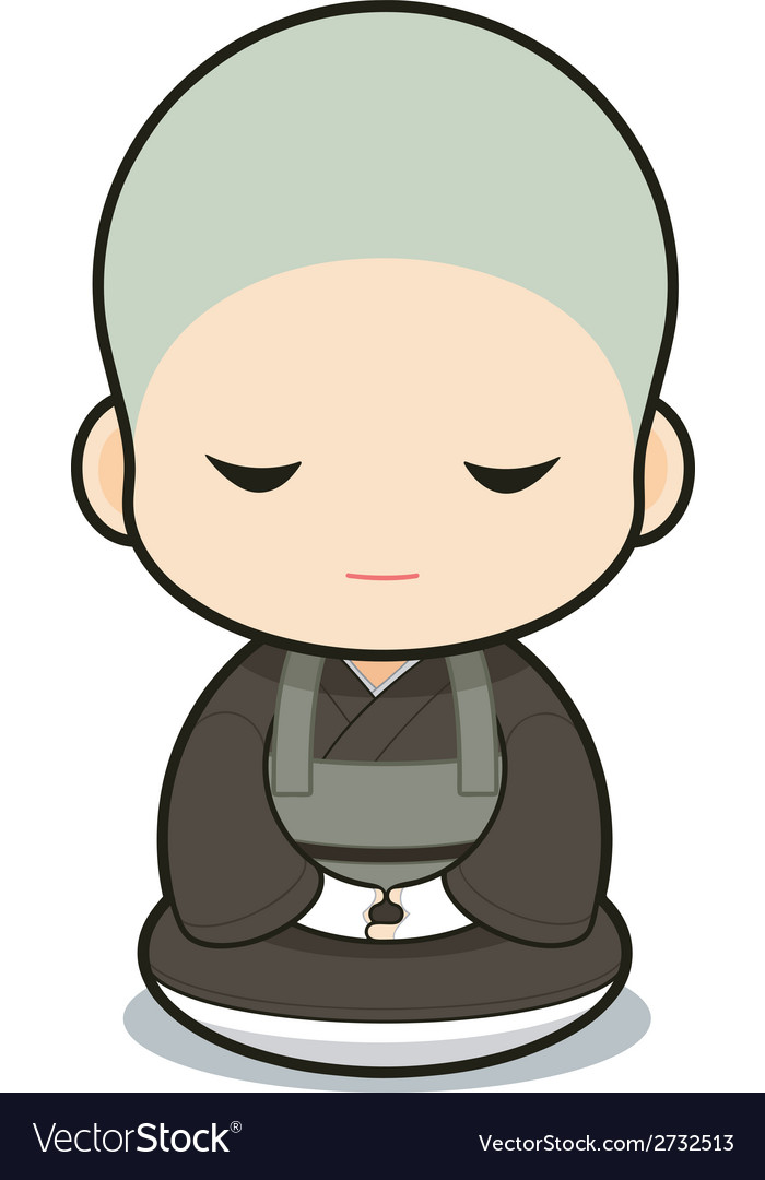 Buddhist monasticism vector | Price: 1 Credit (USD $1)