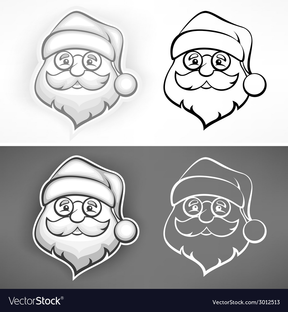 Cheerful santa face vector | Price: 1 Credit (USD $1)