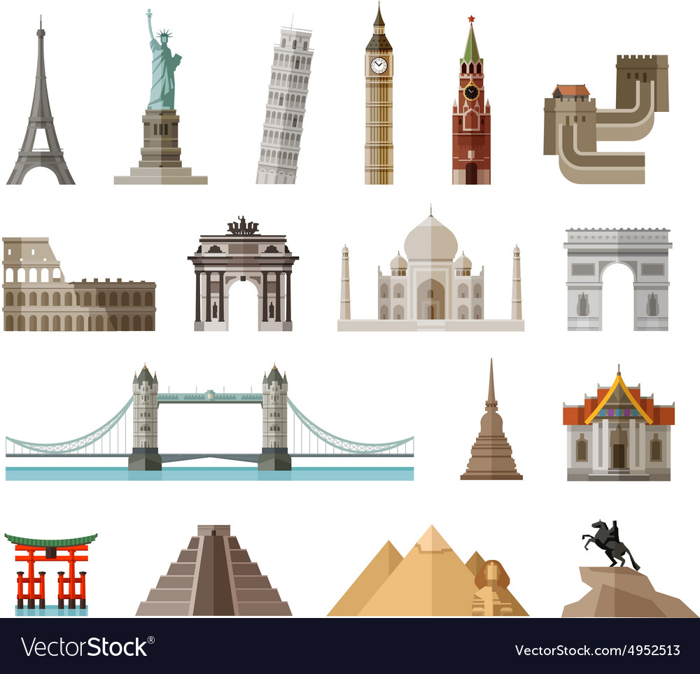 Countries of the world logo design template vector