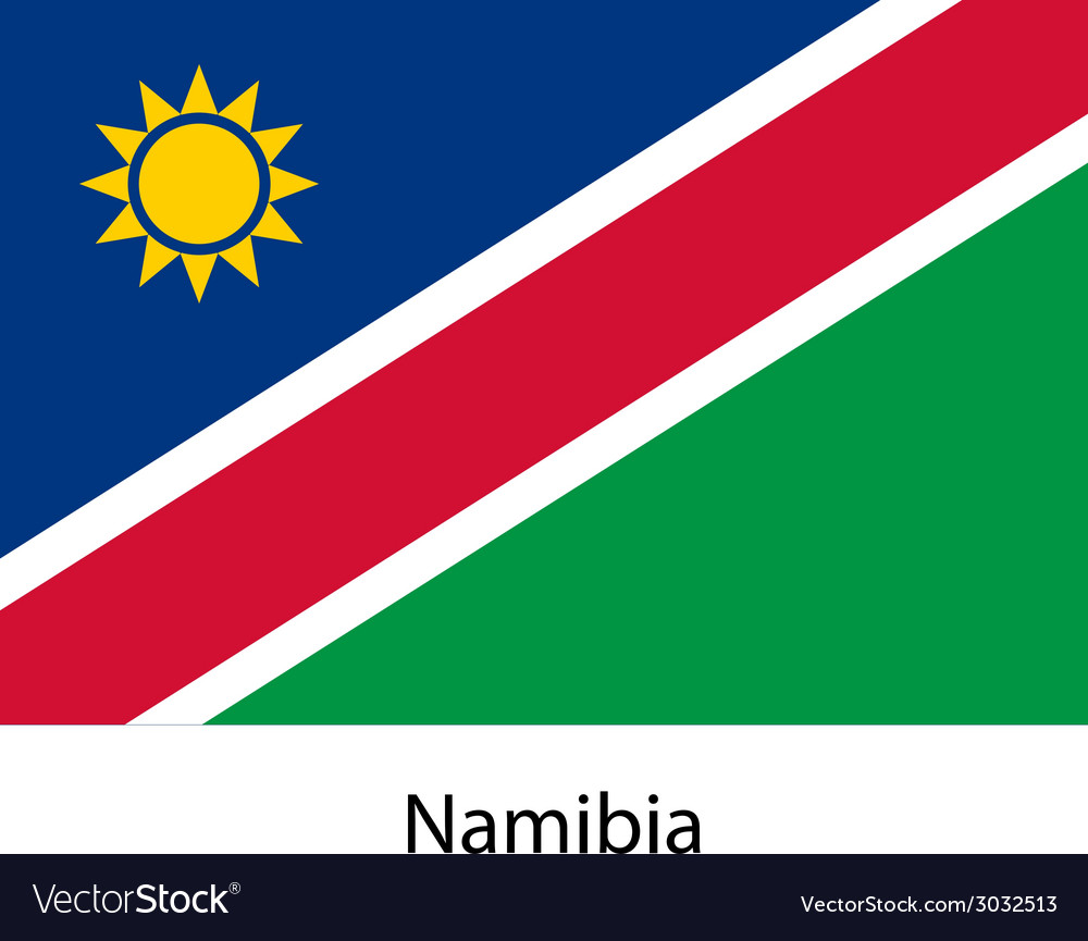 Flag of the country namibia vector | Price: 1 Credit (USD $1)