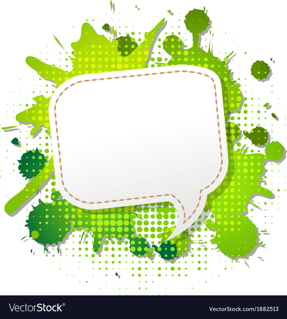 Green grunge poster with abstract speech bubbles vector | Price: 1 Credit (USD $1)