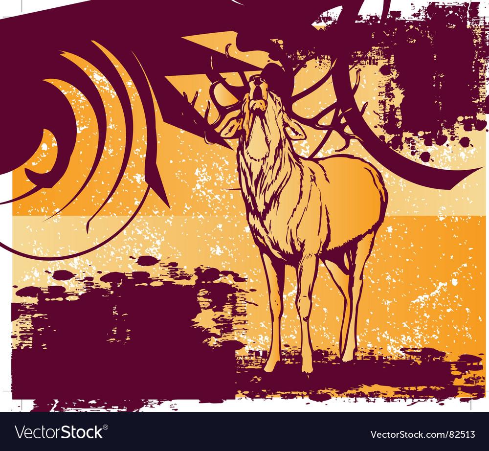 Grungy deer vector | Price: 1 Credit (USD $1)