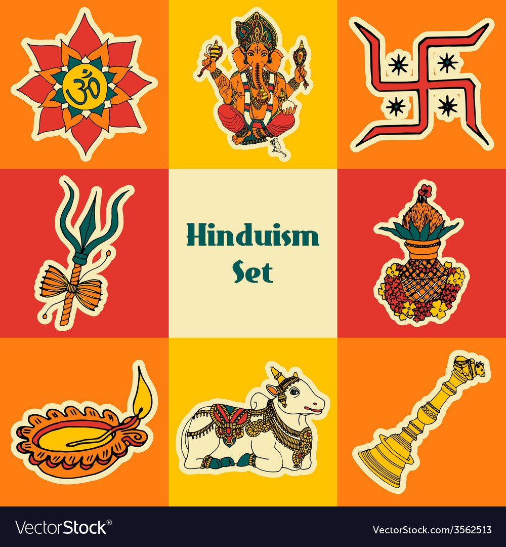 India sketch set vector | Price: 1 Credit (USD $1)