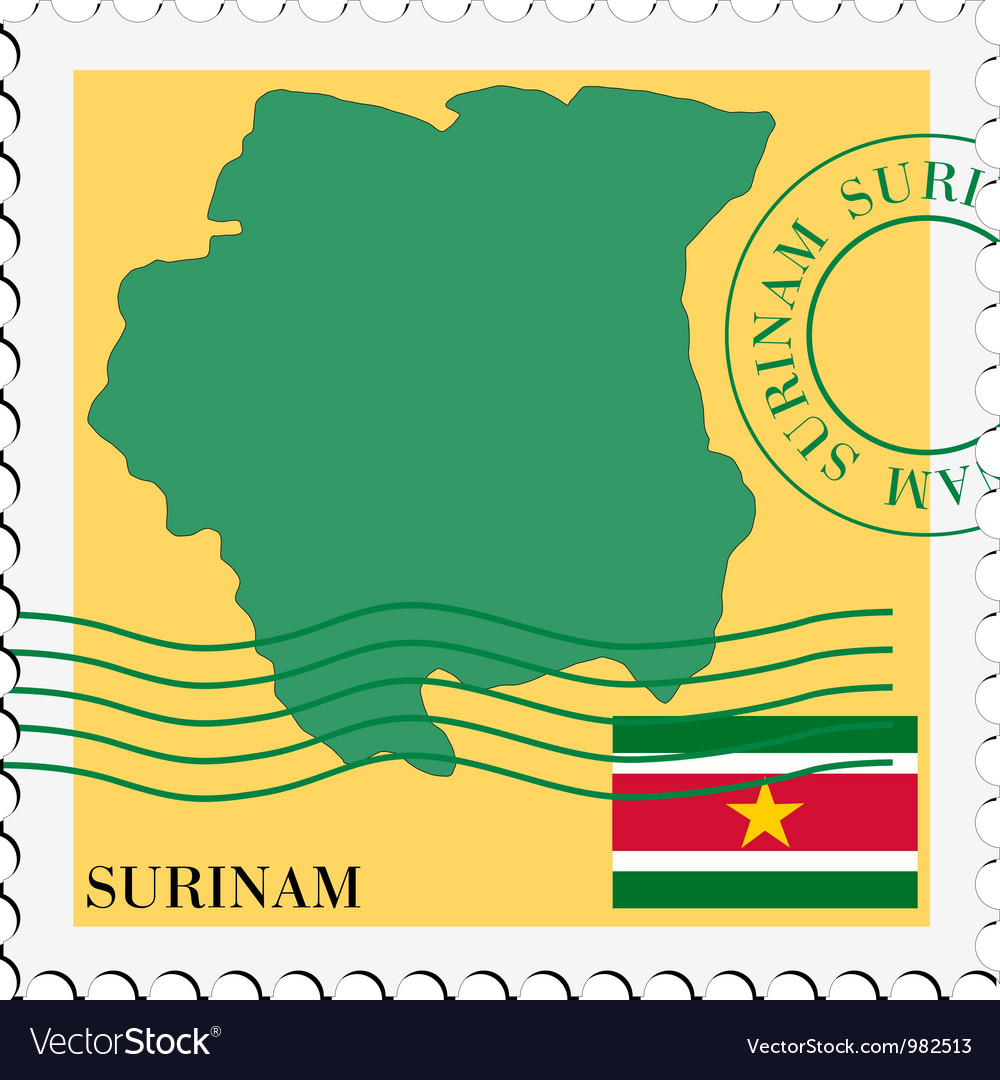 Mail to-from suriname vector | Price: 1 Credit (USD $1)