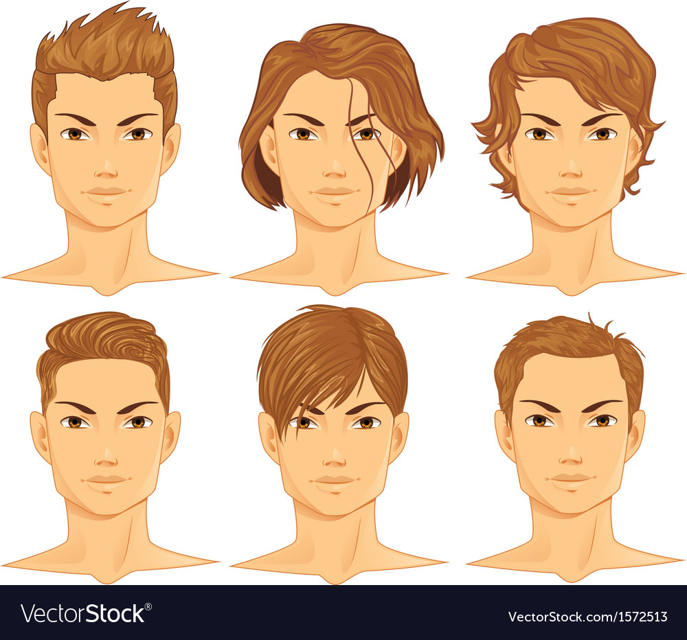 Male hairstyle vector | Price: 1 Credit (USD $1)