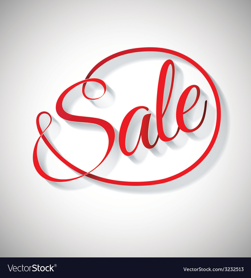 Sale red text design vector | Price: 1 Credit (USD $1)