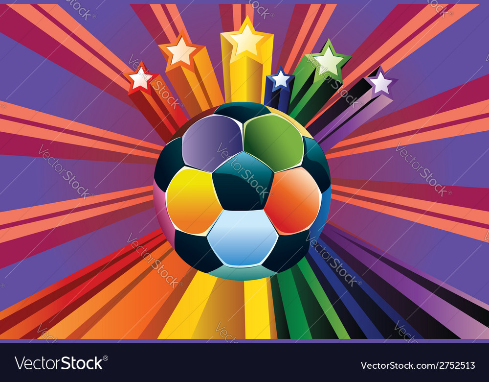 Soccer ball with stars vector | Price: 1 Credit (USD $1)