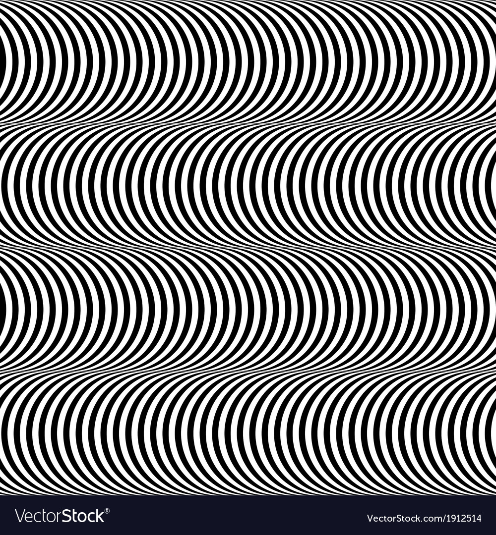 Black and white op art design seamless pattern vector | Price: 1 Credit (USD $1)