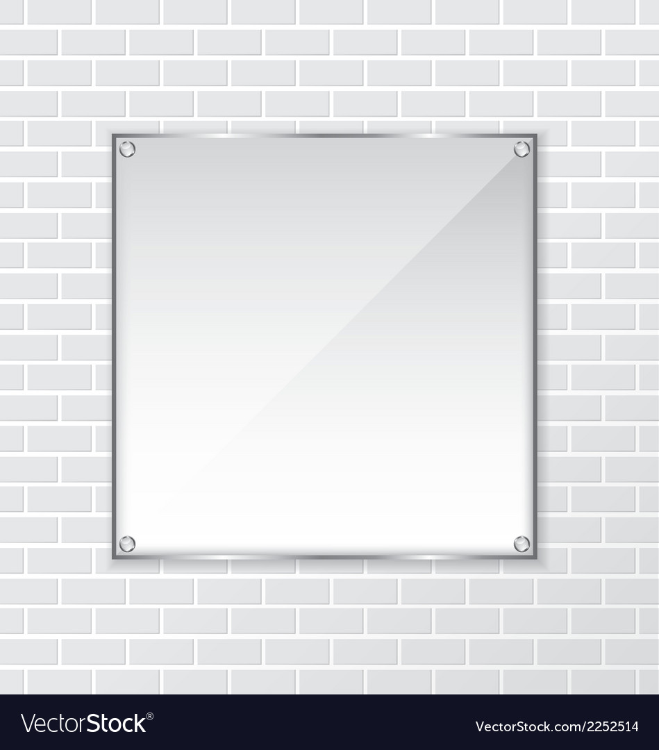 Brick wall and frame background vector | Price: 1 Credit (USD $1)