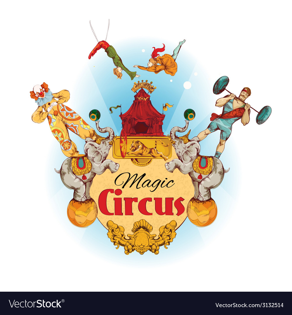 Circus colored background vector | Price: 1 Credit (USD $1)