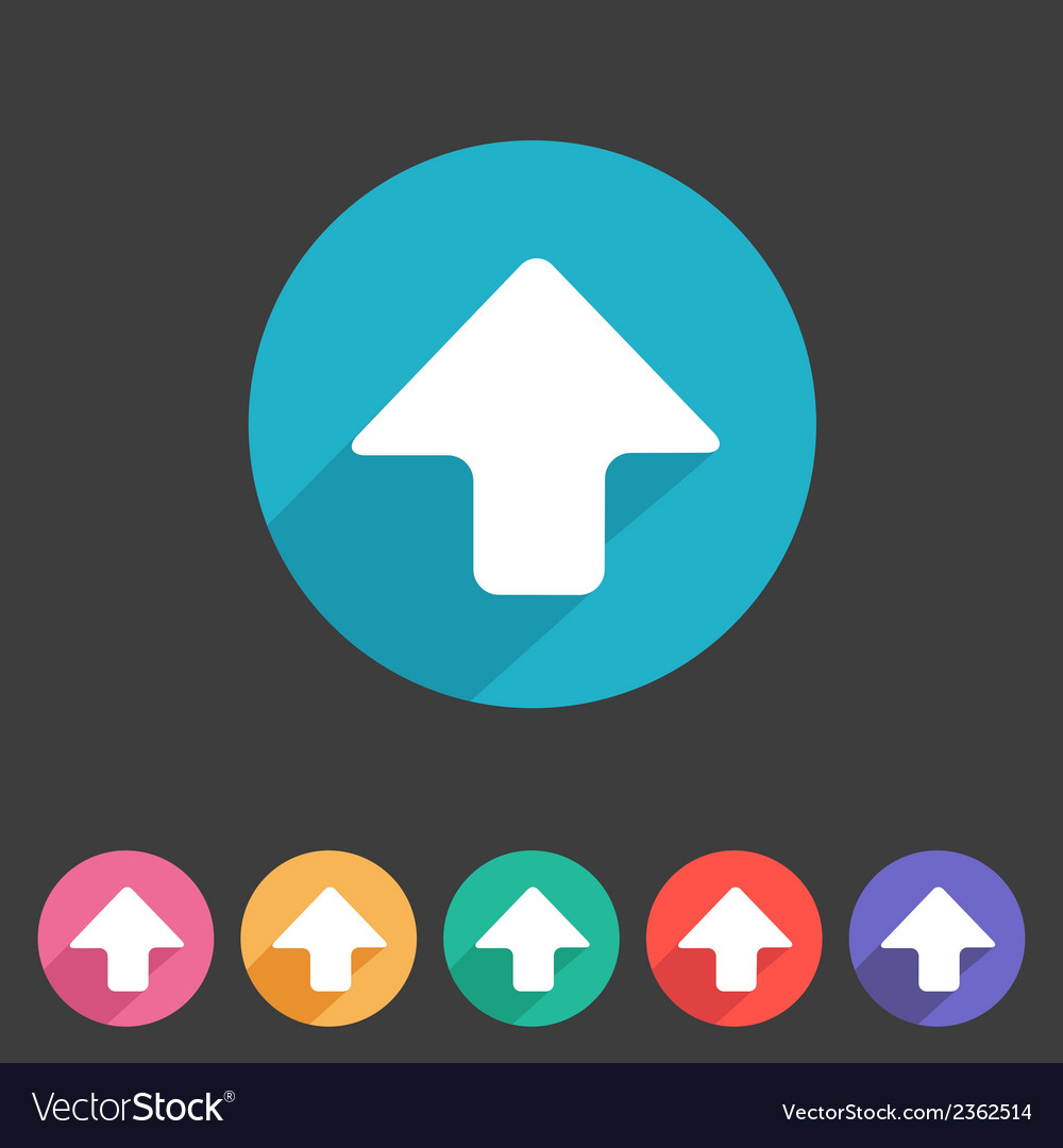Flat game graphics icon arrow up vector | Price: 1 Credit (USD $1)