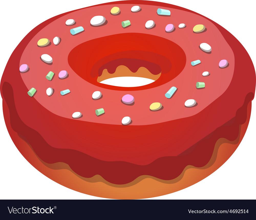 Glazed ring donut vector   Price: 1 Credit (USD $1)