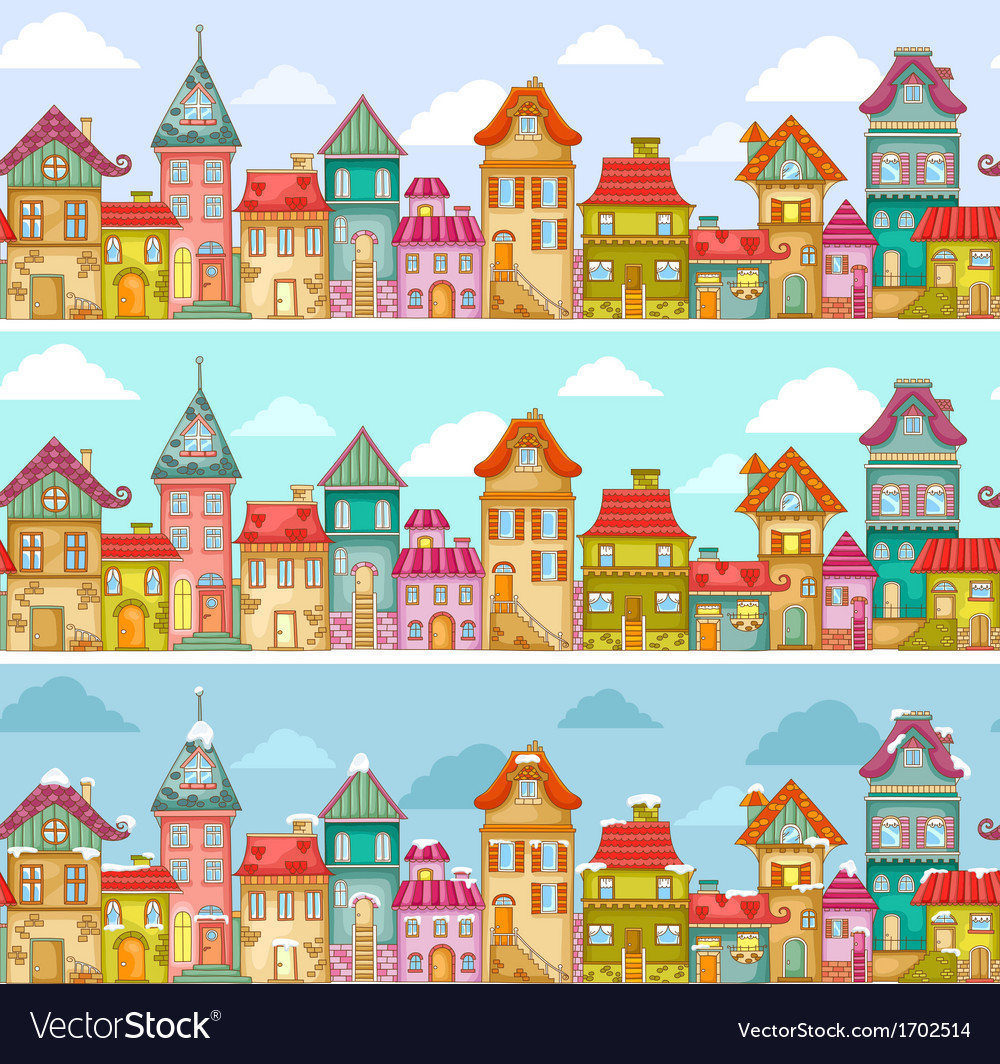 Houses pattern vector   Price: 1 Credit (USD $1)