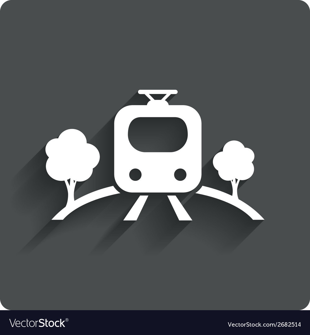 Overground sign icon metro train symbol vector | Price: 1 Credit (USD $1)