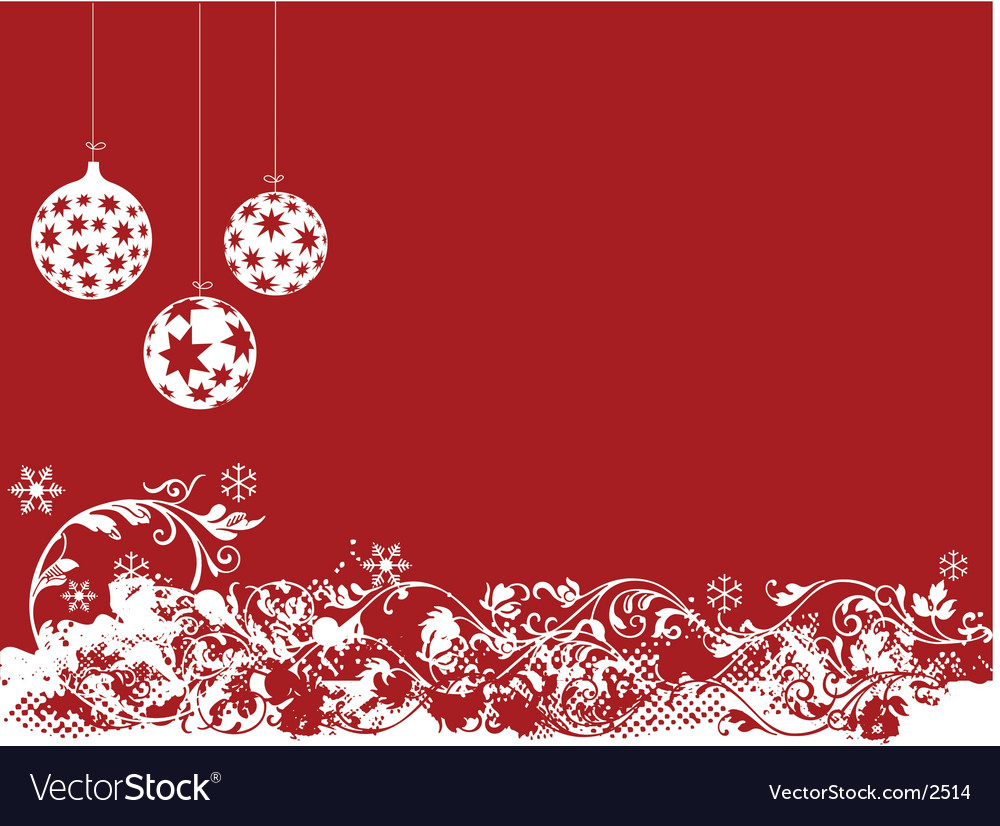 Red christmas vector | Price: 1 Credit (USD $1)
