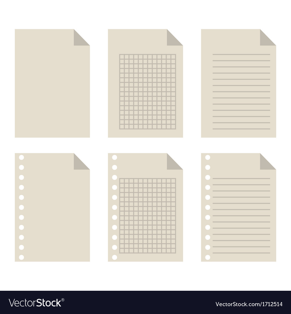 Set of blank sheets of paper vector | Price: 1 Credit (USD $1)