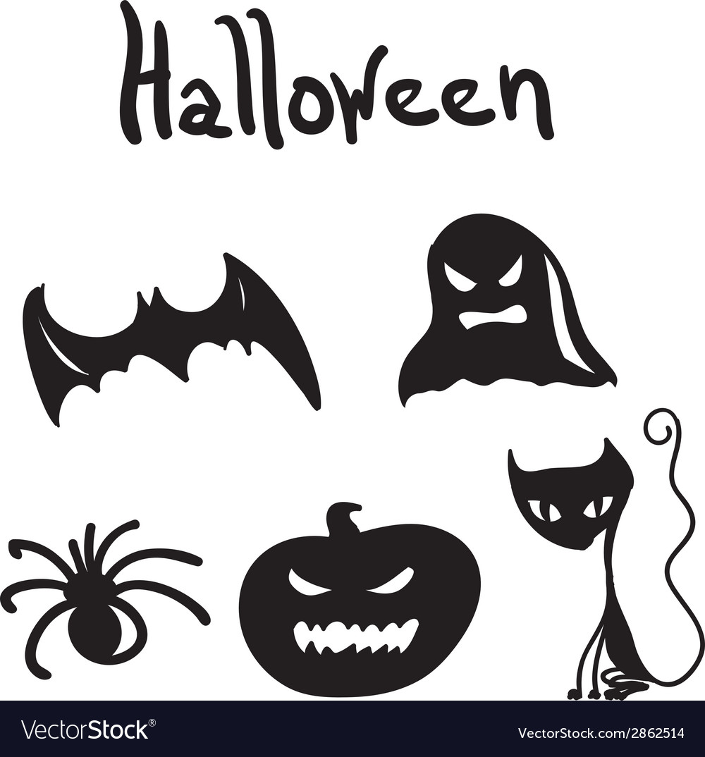 Set of halloween characters for desigen vector | Price: 1 Credit (USD $1)