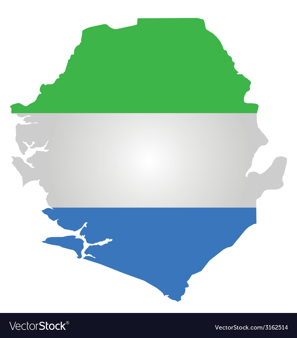 Sierra leone flag vector | Price: 1 Credit (USD $1)