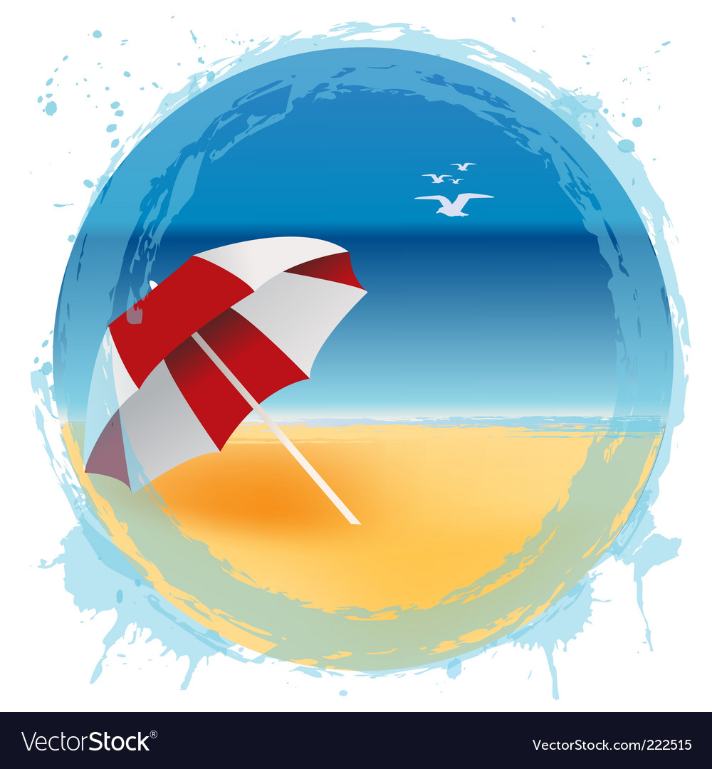 Beach logo vector | Price: 1 Credit (USD $1)