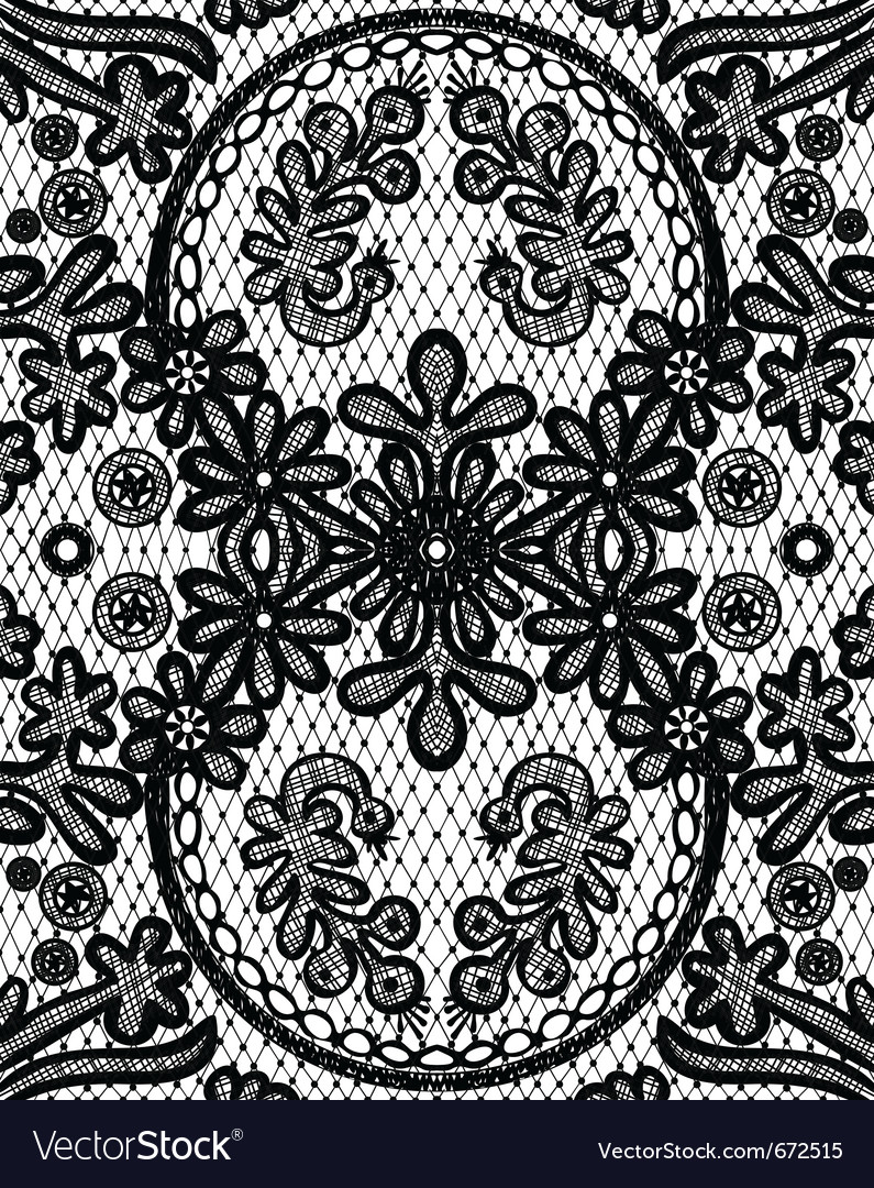 Beautiful floral lace with a circular elements vector | Price: 1 Credit (USD $1)