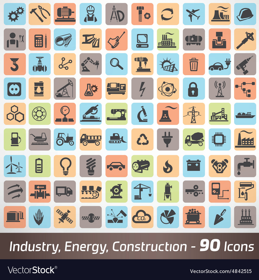 Big set of industry engineering and construction vector