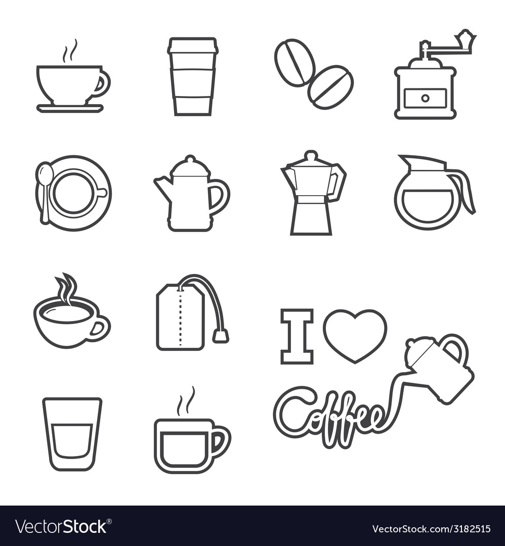 Coffee and tea icon vector | Price: 1 Credit (USD $1)
