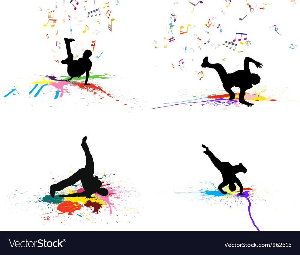 Dance grunge set vector | Price: 1 Credit (USD $1)