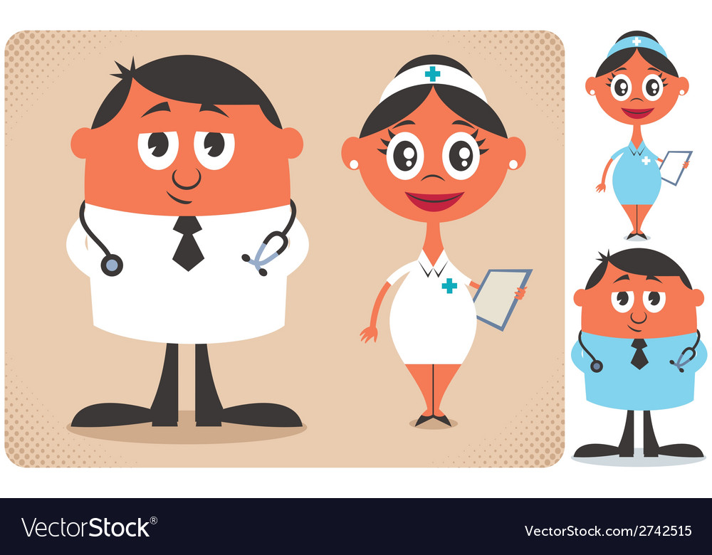 Doctor and nurse vector | Price: 1 Credit (USD $1)