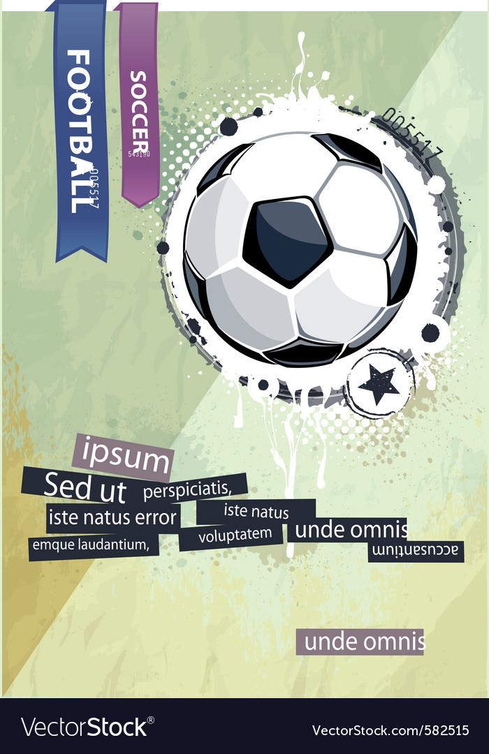 Grunge football vector | Price: 1 Credit (USD $1)