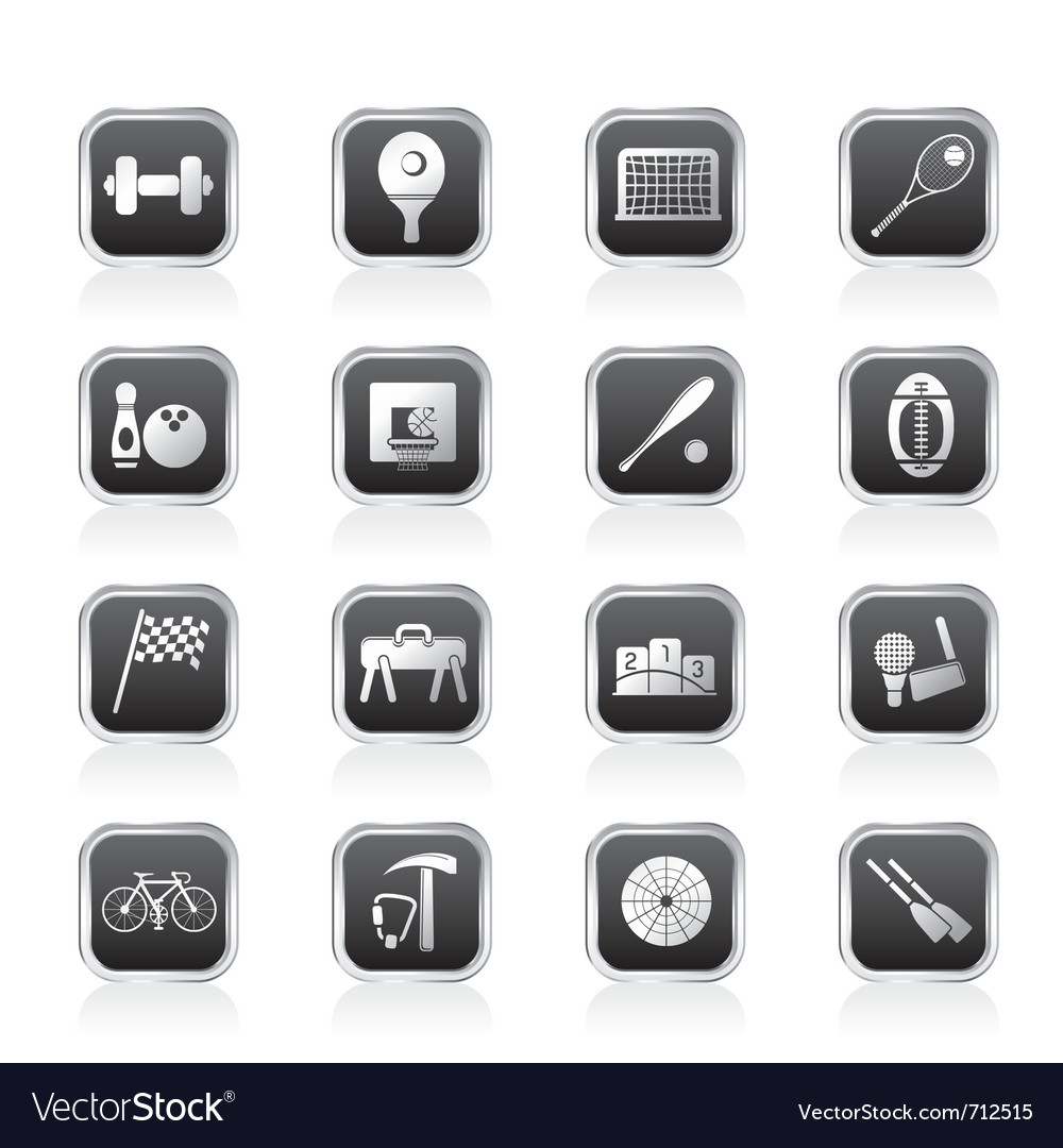 Simple sports gear and tools icons vector | Price: 1 Credit (USD $1)
