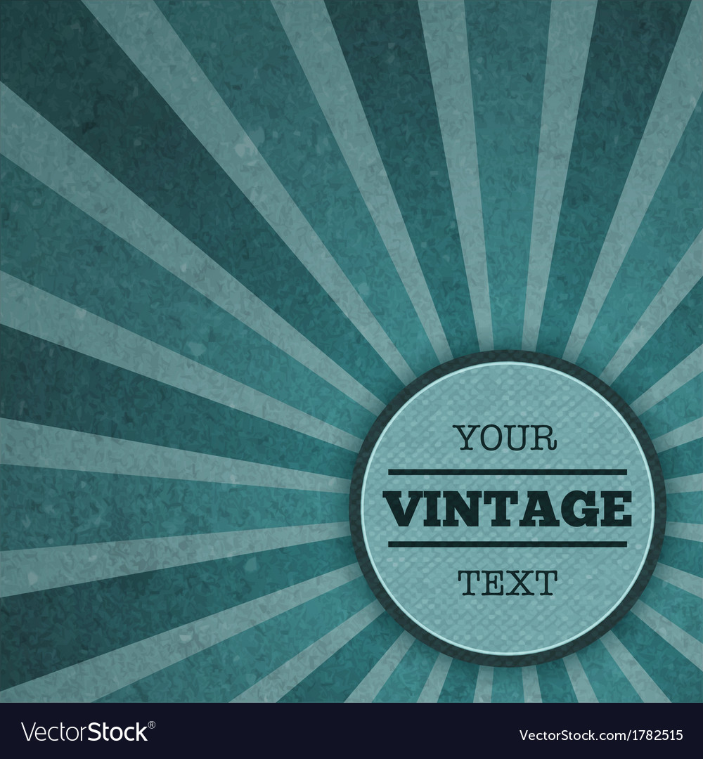 Vintage sunburst advertisement template vector | Price: 1 Credit (USD $1)