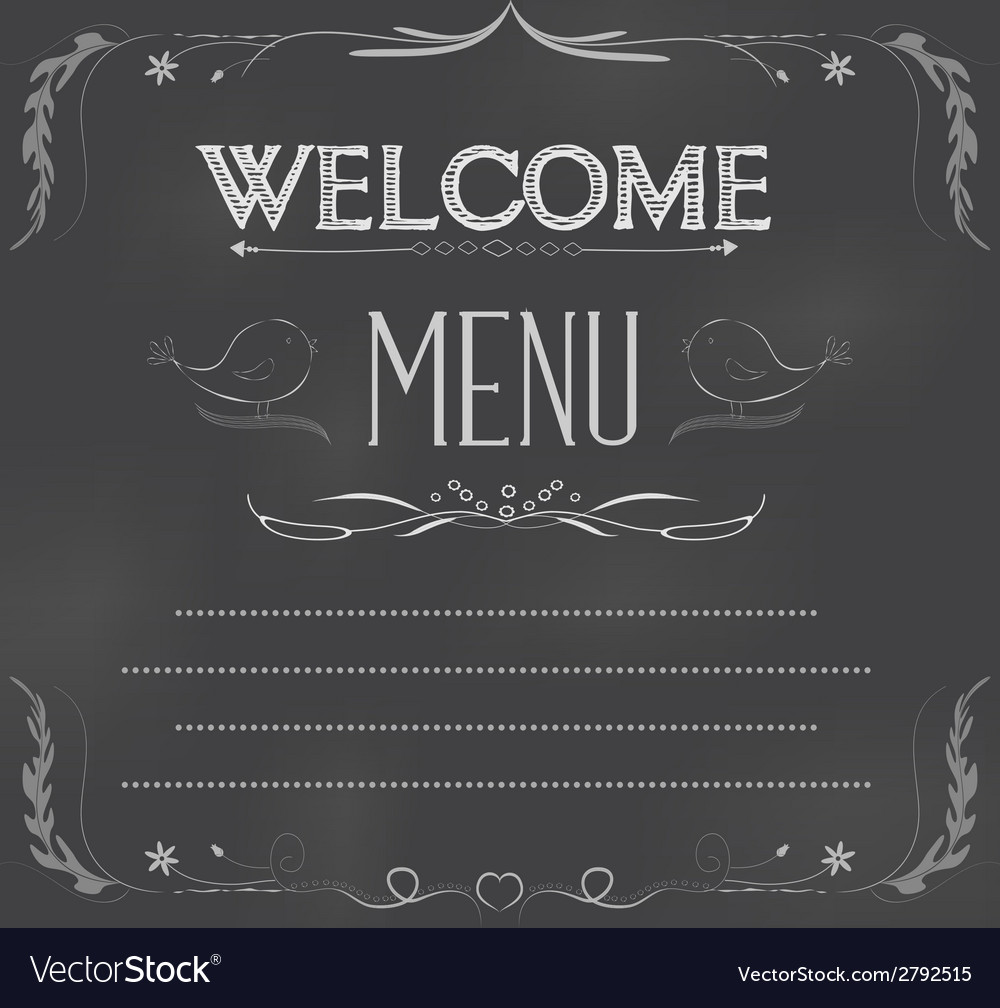 Welcome written on chalkboard vector | Price: 1 Credit (USD $1)