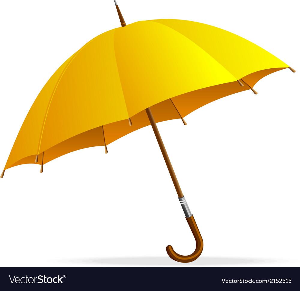 Yellow umbrella isolated vector | Price: 1 Credit (USD $1)