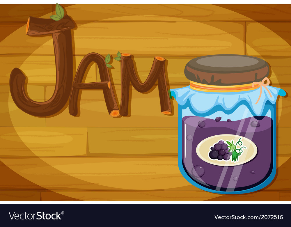 A wooden frame with a jam vector | Price: 1 Credit (USD $1)