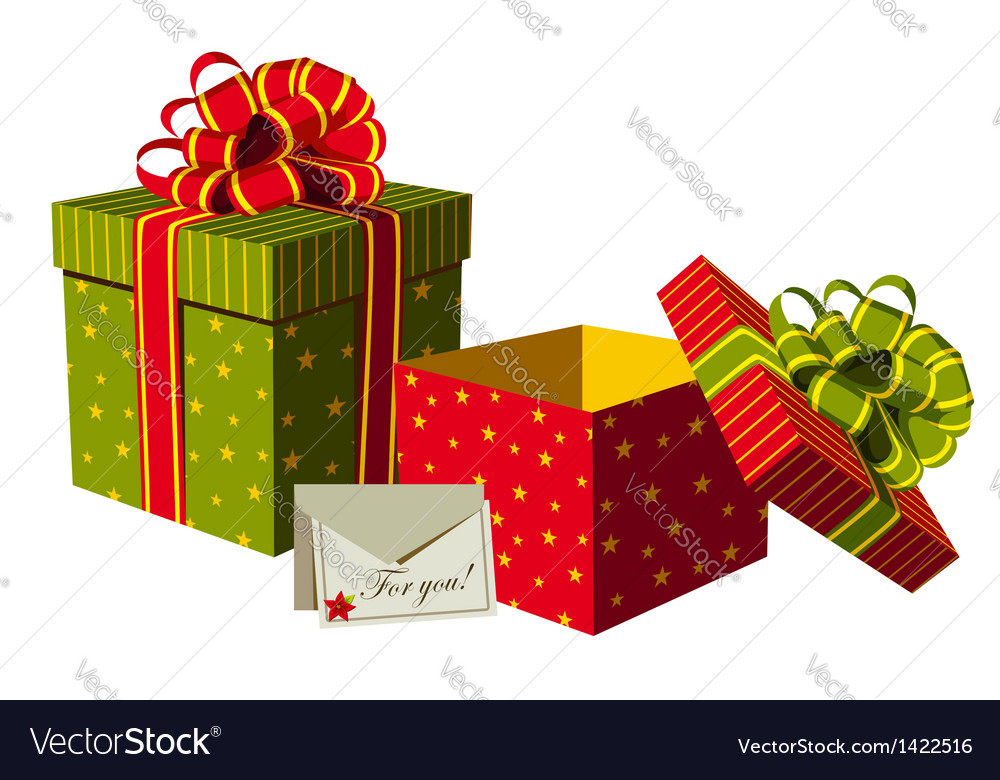 Christmas gifts boxes vector | Price: 1 Credit (USD $1)