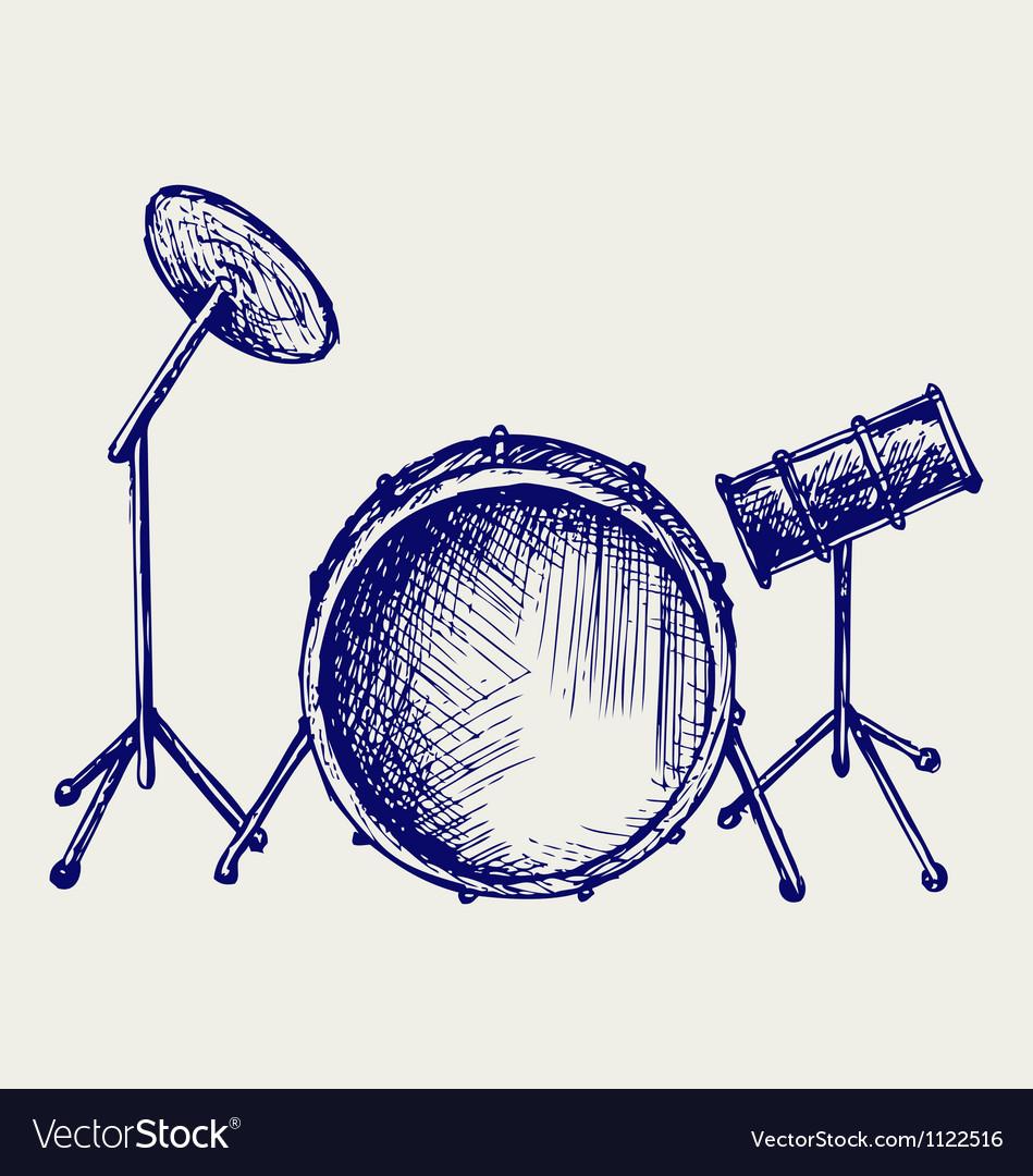 Drum set vector | Price: 1 Credit (USD $1)