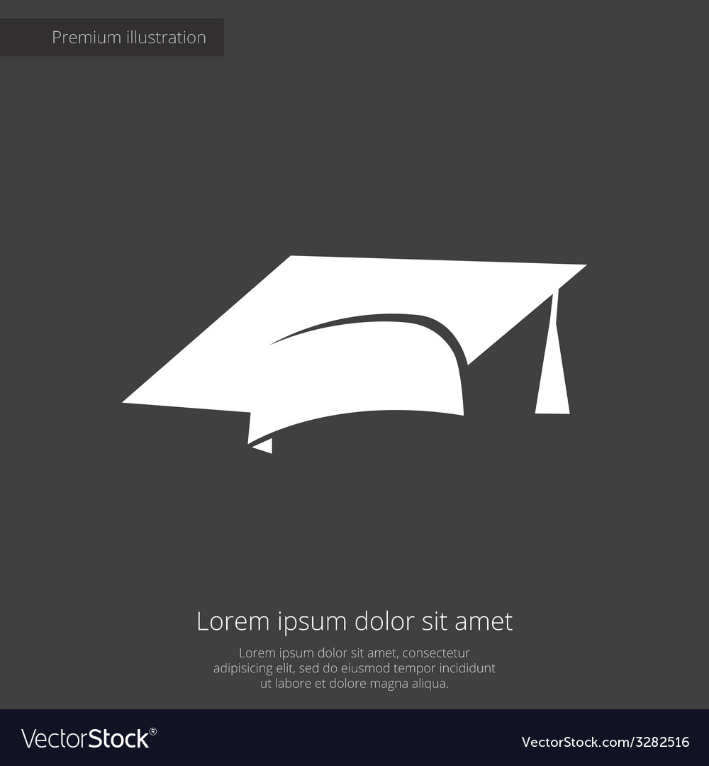 Education premium icon white on dark background vector | Price: 1 Credit (USD $1)