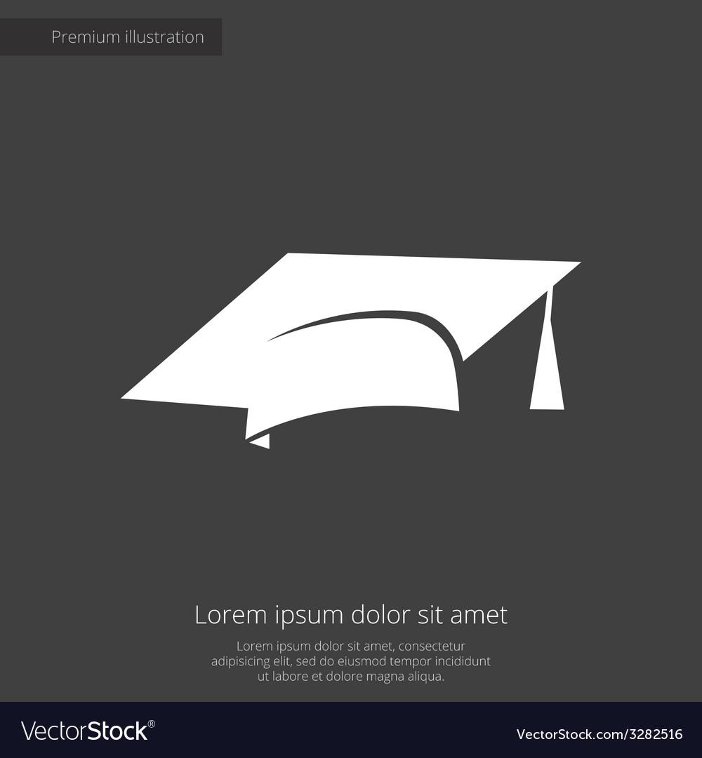 Education premium icon white on dark background vector | Price: 1 Credit (USD $1)