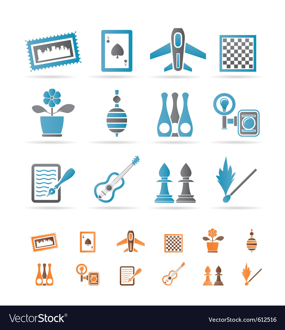 Hobby and holiday objects vector | Price: 1 Credit (USD $1)