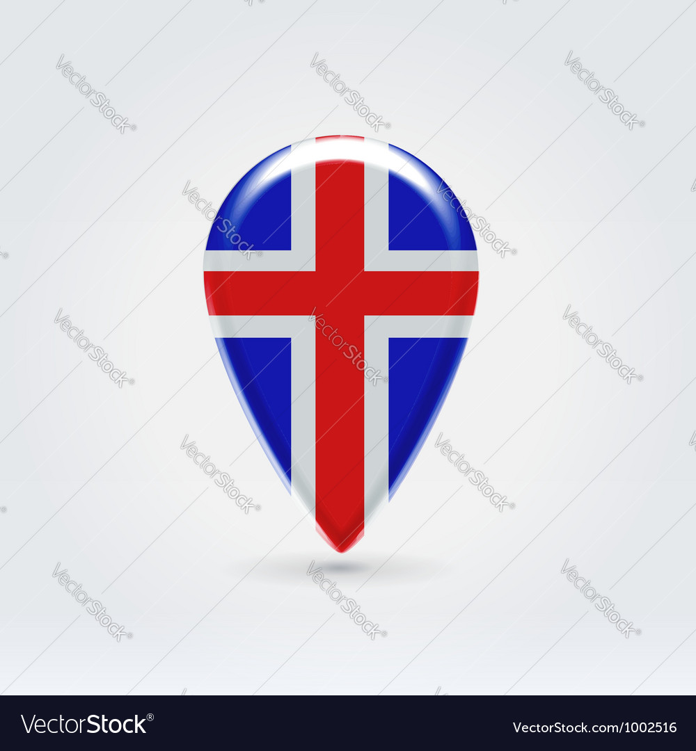 Icelandic icon point for map vector | Price:  Credit (USD $)