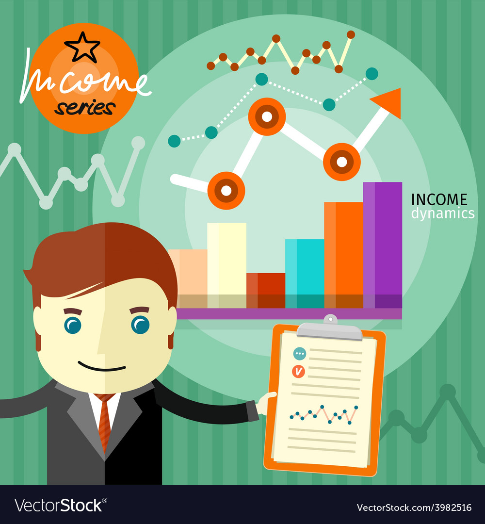Income dynamics concept vector | Price: 1 Credit (USD $1)