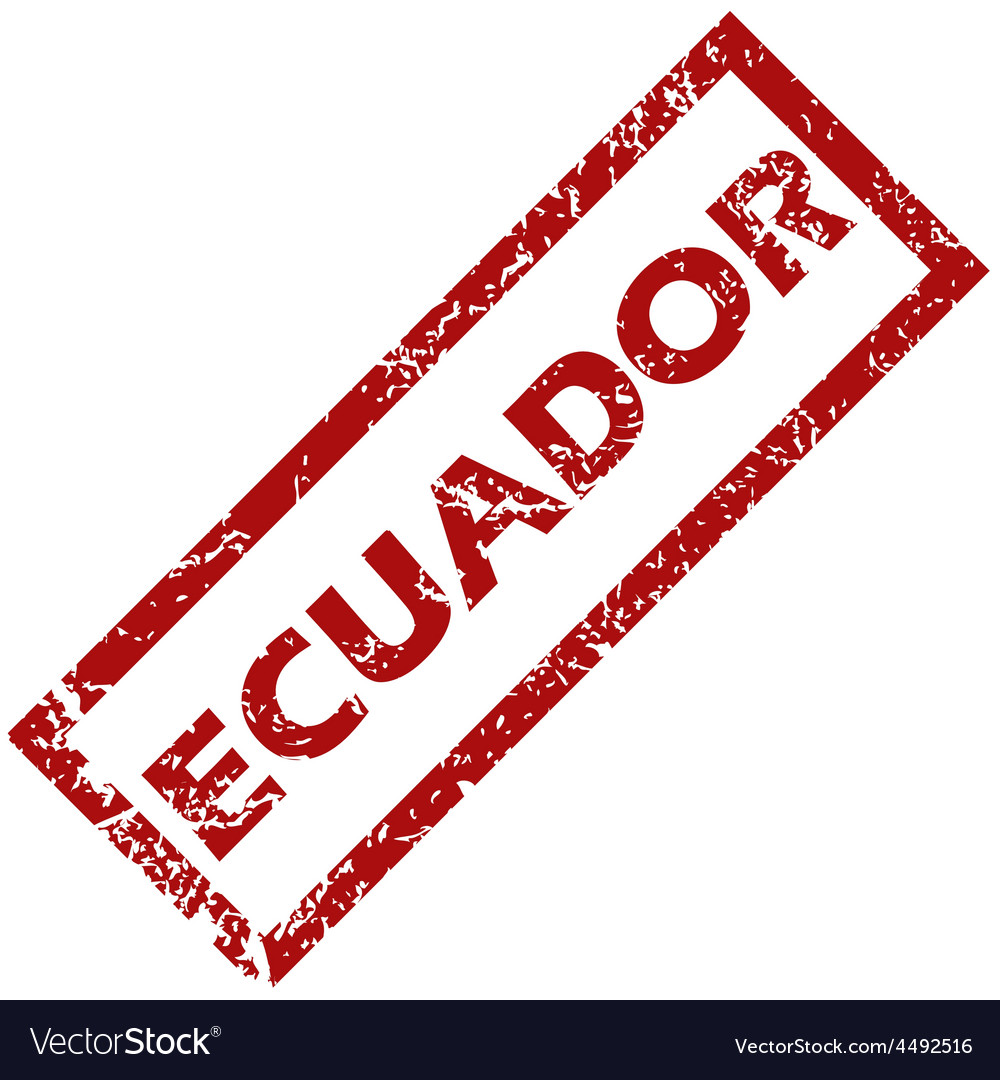 New ecuador rubber stamp vector | Price: 1 Credit (USD $1)