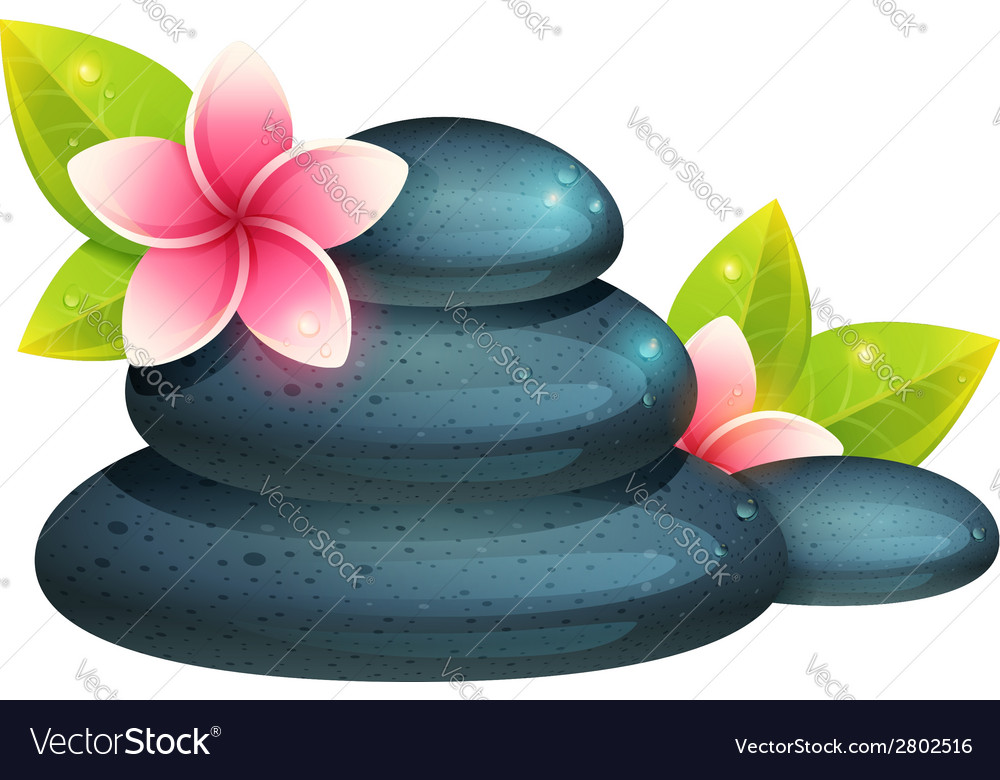 Peaceful and relaxing card with spa items vector | Price: 1 Credit (USD $1)
