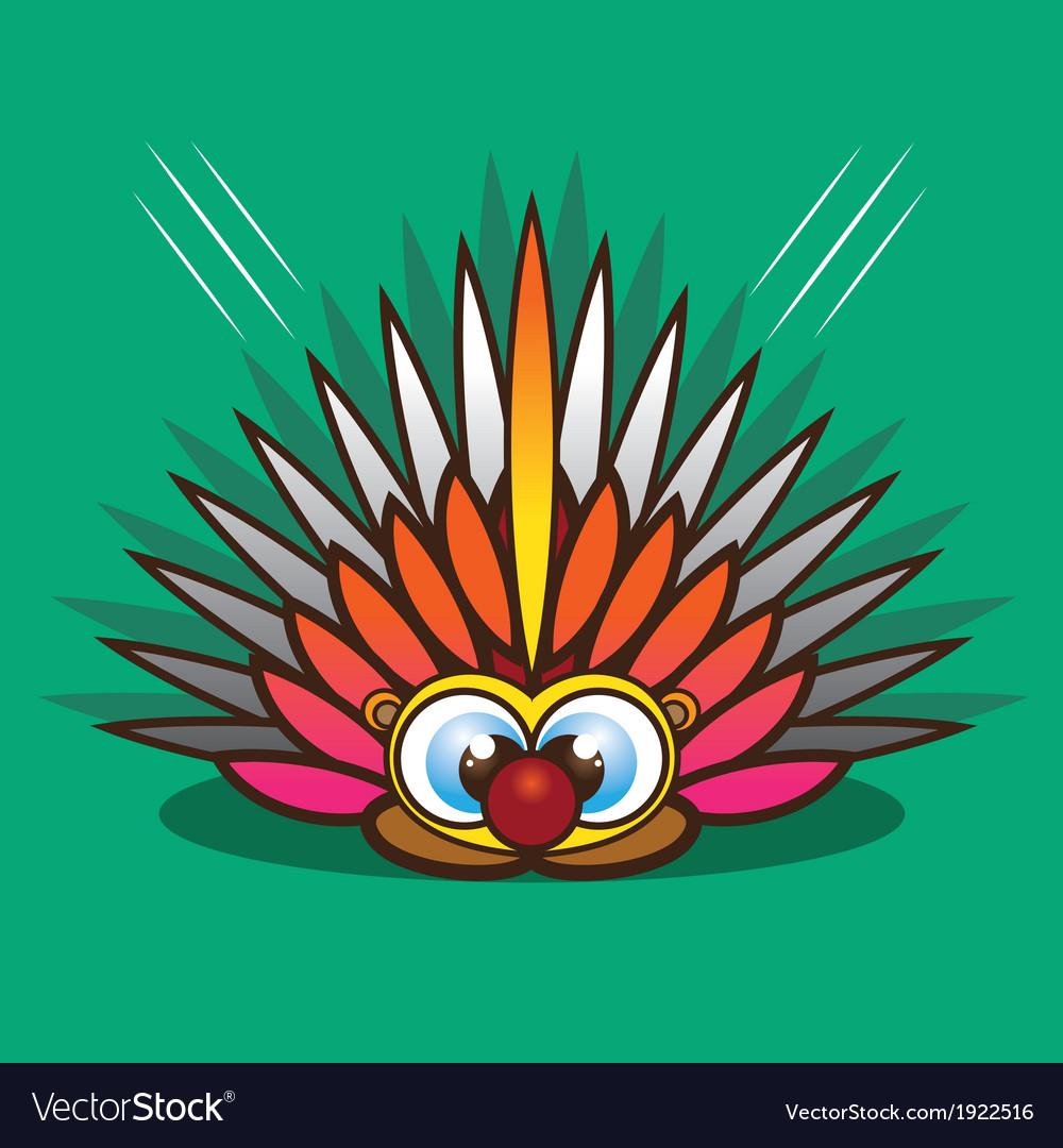 Porcupine cartoon vector | Price: 1 Credit (USD $1)