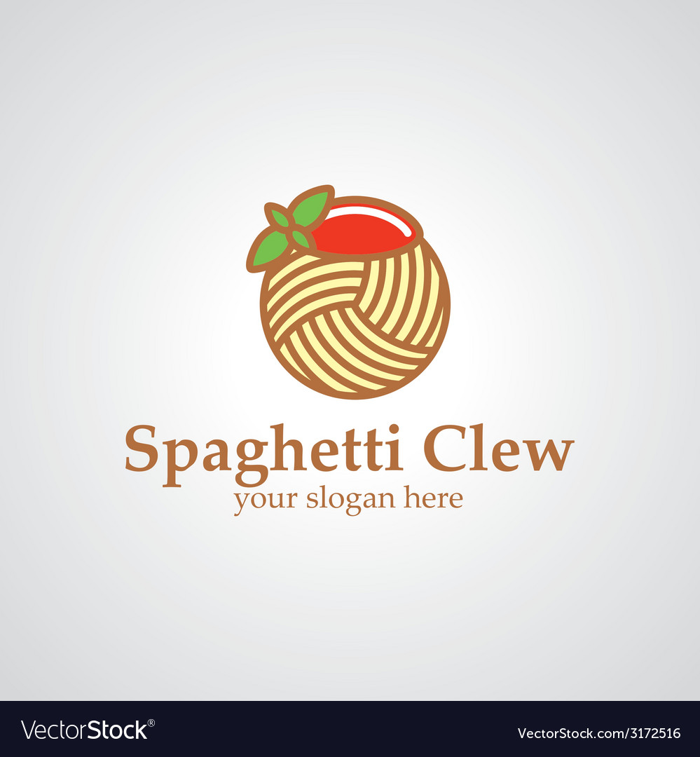 Spaghetti clew logo vector | Price: 1 Credit (USD $1)