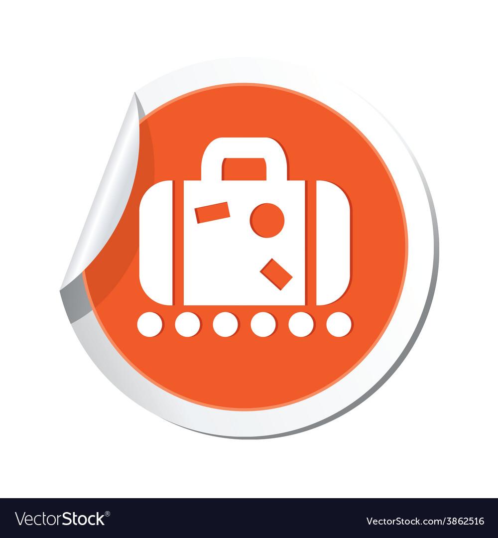 Suitecase orange label vector | Price: 1 Credit (USD $1)