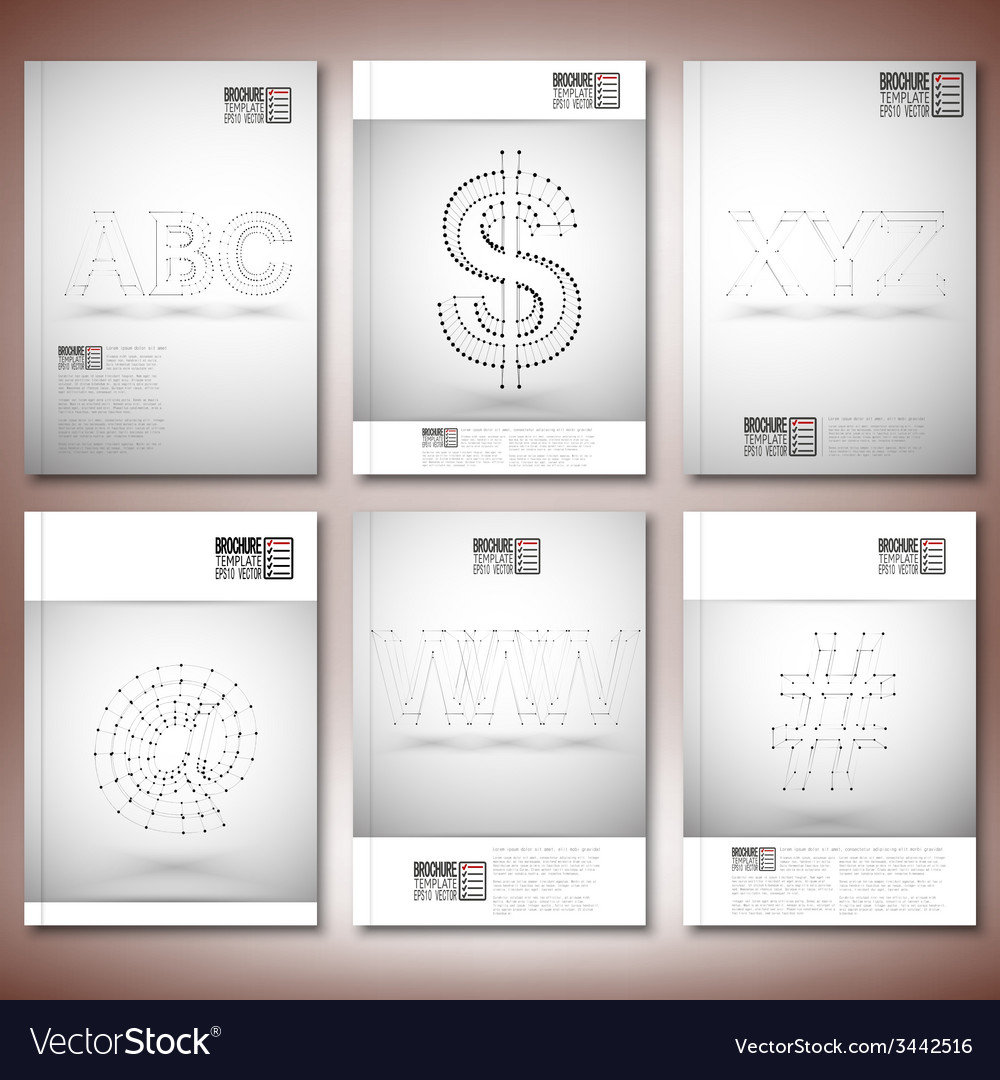 Three dimensional mesh stylish inscriptions - abc vector | Price: 1 Credit (USD $1)